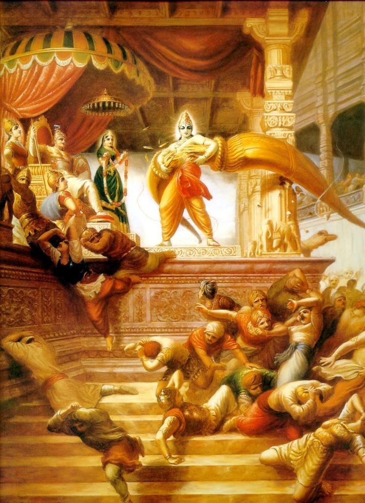 Rama-breaks-bow-of-Shiva-744x1024