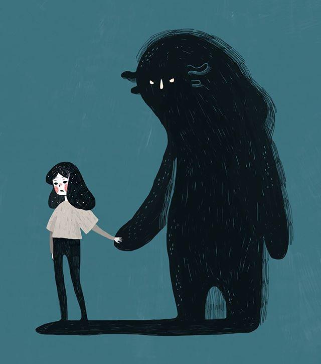 53092abeb1a6c090803d887d8819ded6--depression-monster-black-dog-depression