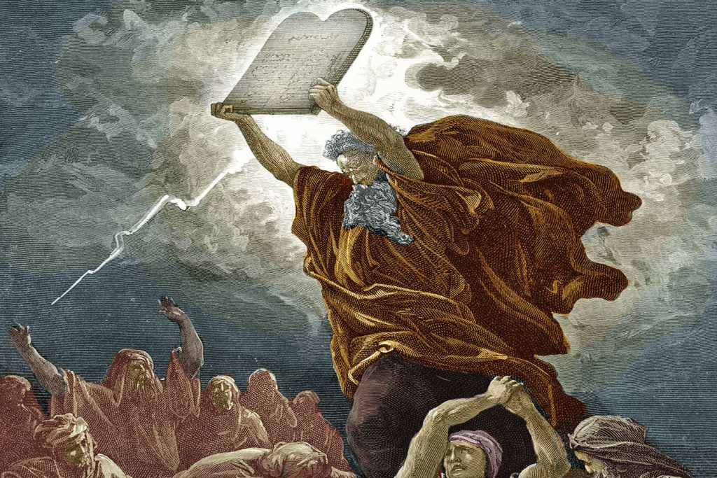 Moses-and-the-Ten-Commandments-GettyImages-171418029-5858376a3df78ce2c3b8f56d