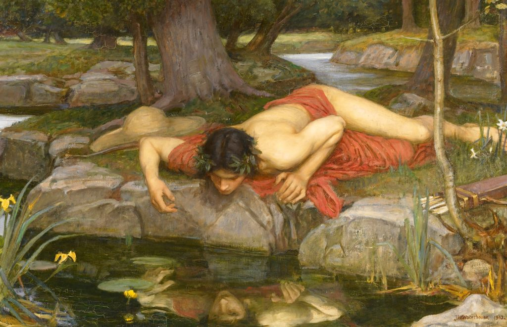 Quadro 'Echo and Narcissus', de John William Waterhouse, datado de 1903
