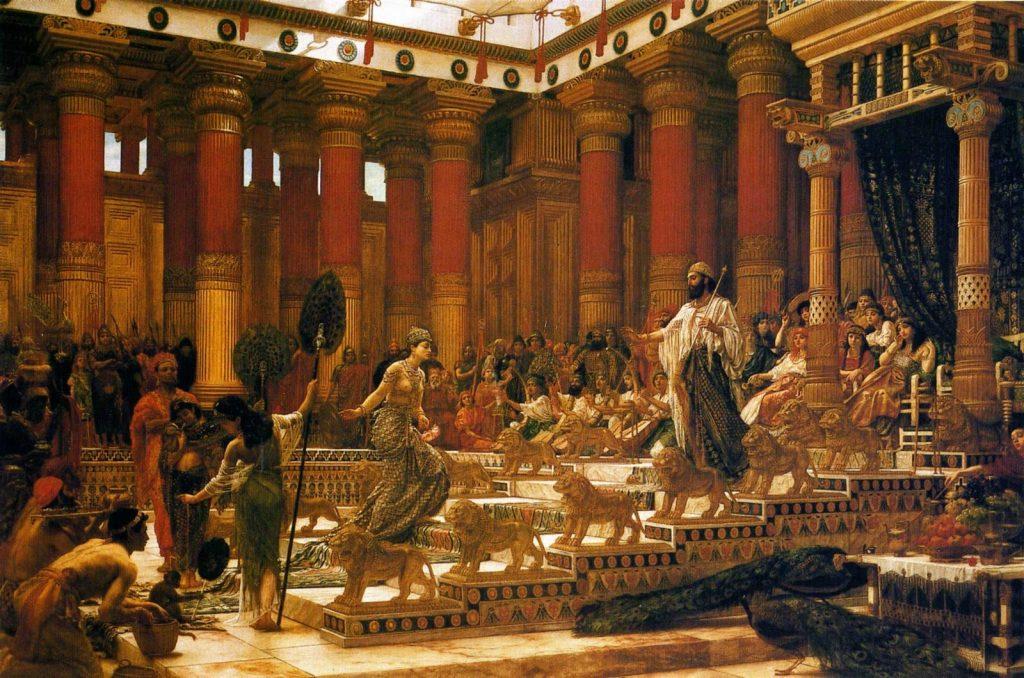 Edward Poynter Drottningen av Saba besöker kung Salomo