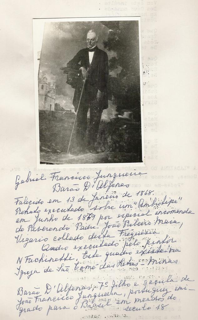 Gabriel Francisco Junqueira , Barão de Alfenas , grande insentivador do Mangalarga