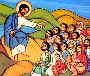 jesus pregando