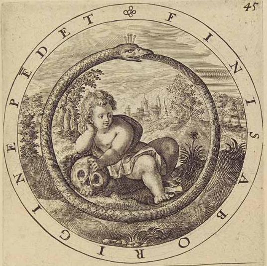 ouroboros interpretação latim imagem desenho serpente ocultismo oculto